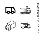 lorry related set of 4 icons...   Shutterstock .eps vector #1088468354