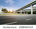 freeway and overpass in... | Shutterstock . vector #1088469143