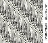 monochrome wavy striped...   Shutterstock .eps vector #1088469704