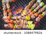 assorted delicious grilled with ... | Shutterstock . vector #1088479826