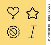 outline set of 4 shapes icons... | Shutterstock .eps vector #1088487218