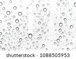 rain drops on window glasses... | Shutterstock . vector #1088505953