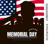 memorial day silhouettes of... | Shutterstock .eps vector #1088509850