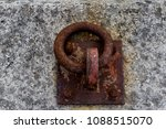 rusty ring for the mooring of a ... | Shutterstock . vector #1088515070
