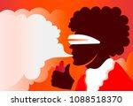 man smoking   vaping   e... | Shutterstock .eps vector #1088518370
