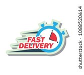 delivery concept  free  fast ... | Shutterstock .eps vector #1088520614