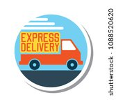 delivery concept  free  fast ... | Shutterstock .eps vector #1088520620