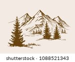 hand drawn vector illustration... | Shutterstock .eps vector #1088521343