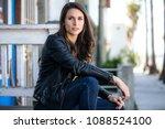beautiful rebel rough serious... | Shutterstock . vector #1088524100