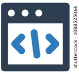 html codetwo colors glyph... | Shutterstock .eps vector #1088525066
