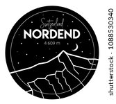 nordend. vector black and white ... | Shutterstock .eps vector #1088530340