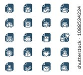 set of documents icons. vector... | Shutterstock .eps vector #1088534234