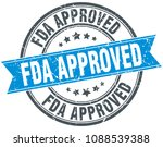 fda approved round grunge... | Shutterstock .eps vector #1088539388