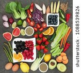 health and super food concept... | Shutterstock . vector #1088539826