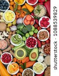 food for healthy eating with... | Shutterstock . vector #1088539829