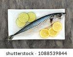 fresh mackerel fish health food ... | Shutterstock . vector #1088539844