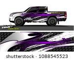 truck wrap design vector.... | Shutterstock .eps vector #1088545523