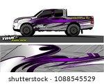 truck wrap design vector.... | Shutterstock .eps vector #1088545529