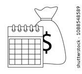 calendar reminder with bag money