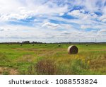 the field with bales of... | Shutterstock . vector #1088553824
