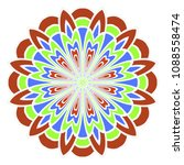 mandala symbol isolated on... | Shutterstock .eps vector #1088558474
