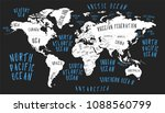 earth map with the name of the... | Shutterstock .eps vector #1088560799