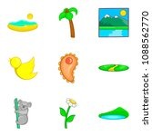 australian fauna icons set.... | Shutterstock . vector #1088562770