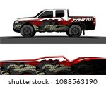 pickup truck wrap design vector.... | Shutterstock .eps vector #1088563190