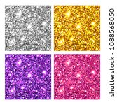shiny glitter textures set.... | Shutterstock .eps vector #1088568050