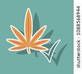 sticker hand drawn color... | Shutterstock .eps vector #1088568944