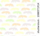 anteater   animal  pattern ... | Shutterstock .eps vector #1088571914