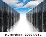 cloud computing and computer... | Shutterstock . vector #108857858