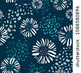 vector seamless colorful floral ... | Shutterstock .eps vector #1088580896