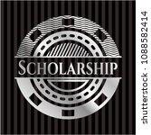 scholarship silver shiny badge   Shutterstock .eps vector #1088582414
