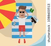 businessman relaxes on the...   Shutterstock .eps vector #1088603513