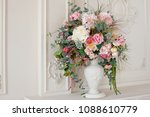 antique white italian urn... | Shutterstock . vector #1088610779