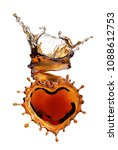 heart from cola splash with... | Shutterstock . vector #1088612753