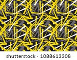 abstract chaotic geometric... | Shutterstock .eps vector #1088613308