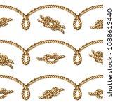 nautical  yellow rope woven ... | Shutterstock .eps vector #1088613440