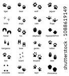 set of footprints of wild... | Shutterstock .eps vector #1088619149