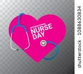 vector international nurse day...   Shutterstock .eps vector #1088630834