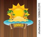 vector summer label with island ...   Shutterstock .eps vector #1088631290