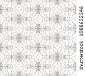 seamless pattern with wavy... | Shutterstock .eps vector #1088632346
