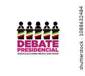 presidential debate. elections... | Shutterstock .eps vector #1088632484