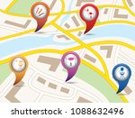 set of tourism services map... | Shutterstock .eps vector #1088632496