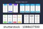 collection of offer tariffs...   Shutterstock .eps vector #1088637500