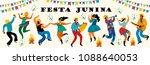 festa junina. vector templates... | Shutterstock .eps vector #1088640053