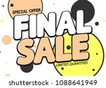 final sale  special offer ... | Shutterstock .eps vector #1088641949