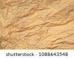 crumpled paper background | Shutterstock . vector #1088643548