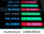 exchange rate on the screen.... | Shutterstock . vector #1088658026